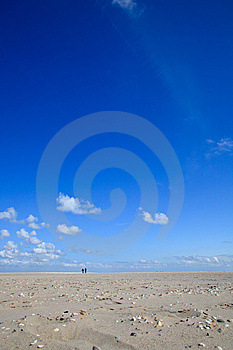 A Blue Clear Sky With Beach And Ocean Royalty Free Stock Photography - Image: 14692367