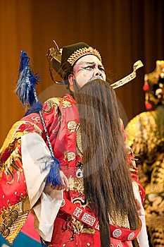 China Opera Man With Black Beard Royalty Free Stock Image - Image: 14693336