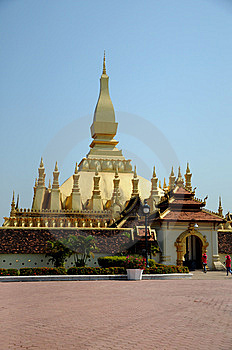 Laos Temple View Stock Photography - Image: 14693872