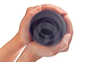 Lens In Hands Stock Images - Image: 14693874