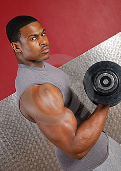 African American Lifting Weights Stock Photography - Image: 14694202