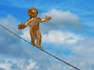 Rope Walker Royalty Free Stock Photos - Image: 14694248