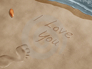 Carved In The Sand Royalty Free Stock Images - Image: 14696569