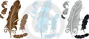 Stylized Feathers Stock Photos - Image: 14696673