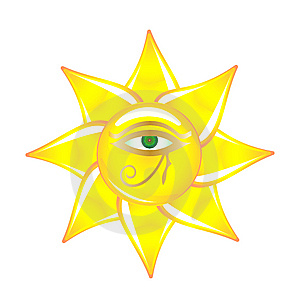 Egyptian Eye On The Sun Glass Stock Photo - Image: 14699820