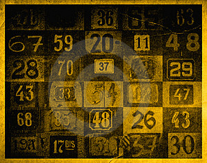 Grunge Background With Numbers Royalty Free Stock Image - Image: 1474686