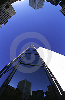 Fisheye Buildings Royalty Free Stock Images - Image: 1475689