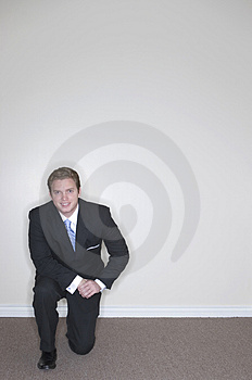 Businessman Kneeling Stock Images - Image: 1475924