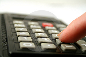 Calculator Keyboard Royalty Free Stock Photography
