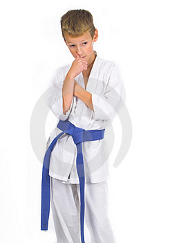 Child in karate Stock Images