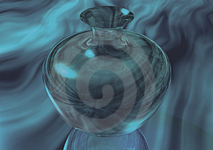 3D Green Glass Vase Royalty Free Stock Photography - Image: 1479167