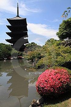 Toji Buddhist Tower Stock Image - Image: 14700451