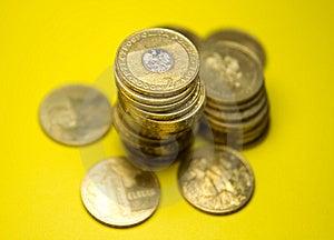 Polish Zloty Gold Coins Stock Photo - Image: 14700870