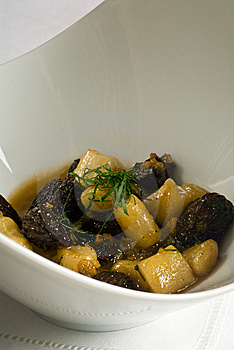 Roasted Mushrooms With Gnocchi Stock Images - Image: 14702544