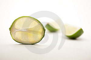 Lime Slice And Two Quarter Segments Royalty Free Stock Photos - Image: 14702678