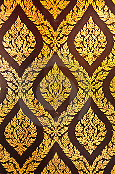 Thai Style Door Royalty Free Stock Photography - Image: 14703337