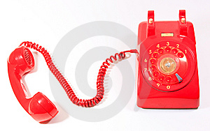 Classic 1970 - 1980 Retro Dial Style Red House Tel Royalty Free Stock Image - Image: 14704076