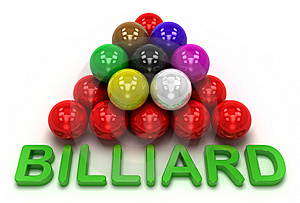 Billiard Game Royalty Free Stock Photo - Image: 14705185