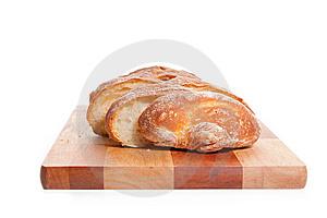 Bread On A Cutting Board Royalty Free Stock Photo - Image: 14707175