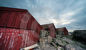 Norwegian Shacks Stock Images - Image: 14707464