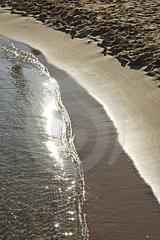 Gentle Surf Coming Onto A Sandy Beach. Stock Photo - Image: 14710830