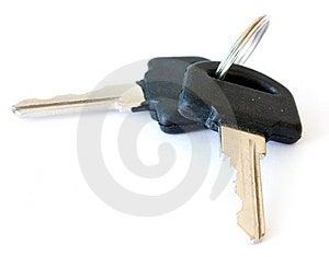 Black Keys Isolated On White Royalty Free Stock Image - Image: 14714506