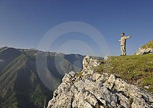 Fresh Sunrise At Mountain Royalty Free Stock Image - Image: 14715656