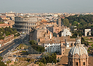 Rome View Stock Photo - Image: 14716670