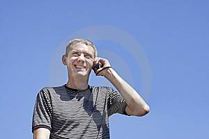 The Guy With Phone Royalty Free Stock Image - Image: 14717756