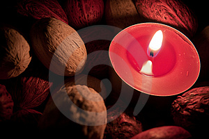 Candle Burning In The Dark Stock Photos - Image: 14719383
