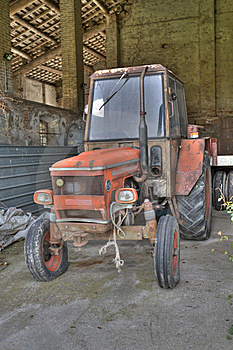 Ancient Tractor Royalty Free Stock Photos - Image: 14720308
