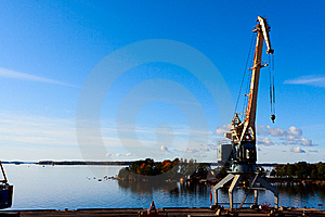 Sea Port Cranes Royalty Free Stock Images - Image: 14722279