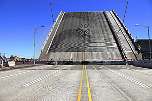Raised Bridge. Stock Photo - Image: 14723720