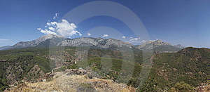 Panoramic View Of The Mountain Stock Photography - Image: 14723812