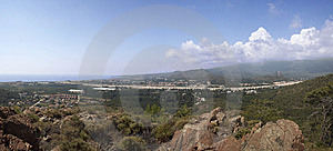 Panoramic View On The Seacost Royalty Free Stock Photos - Image: 14723858