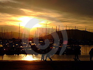 Dusk In Seaport Stock Photography - Image: 14724552