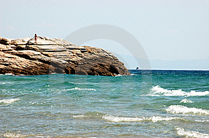Beach On The Aegean Sea Royalty Free Stock Images - Image: 14726079