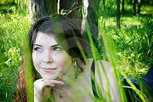 Young Girl In The Grass Stock Photos - Image: 14728673