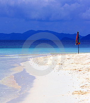 Parasol On Beach Stock Image - Image: 14730651