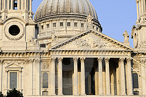 Columns Of Saint Paul's Cathedral Stock Photos - Image: 14731963