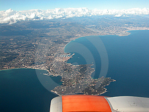 Aerial View Of Cote D'Azur Royalty Free Stock Photo - Image: 14735245
