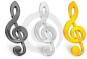 Golor Treble Clef Stock Images - Image: 14740484
