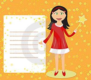 Fairy Girl With Frame Stock Photos - Image: 14741803