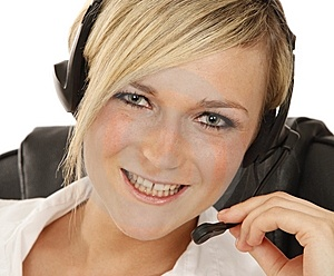 Hotline Girl Royalty Free Stock Images - Image: 14742919