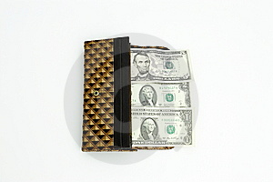 Purse With Dollars Royalty Free Stock Images - Image: 14743699