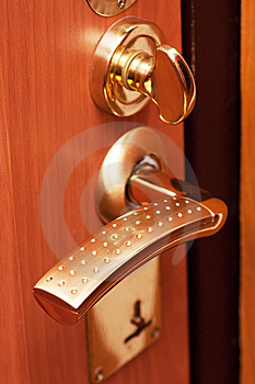 Doorlock Stock Photo - Image: 14744620