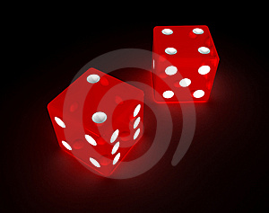 Glowing Red Dice Royalty Free Stock Image - Image: 14745536