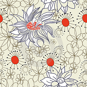 Floral Seamless Pattern Royalty Free Stock Photos - Image: 14749988