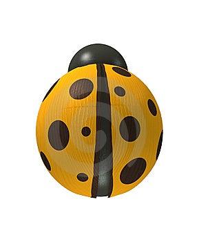 Wood Yellow Ladybird Stock Photography - Image: 14750512