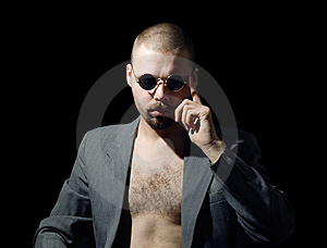 Bristly Man Stock Image - Image: 14753171